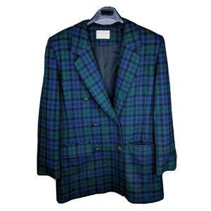 Pendleton 6 Blazer Jacket Tartan Plaid Virgin Wool